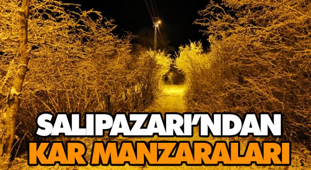 SALIPAZARI'NDAN KAR MANZARALARI